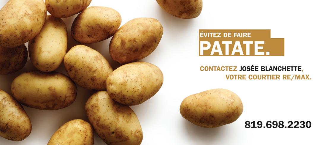 Série Fruits et légumes Blancs - Patate